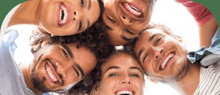 People Smiling in Circle