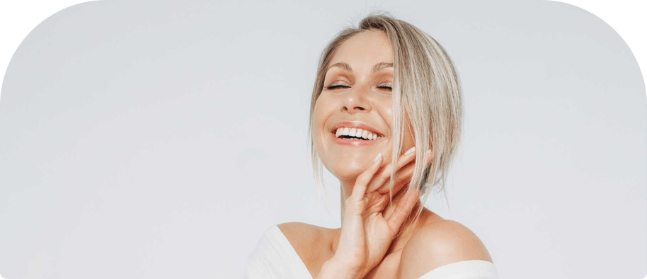 Woman Smiling after Filling Teeth